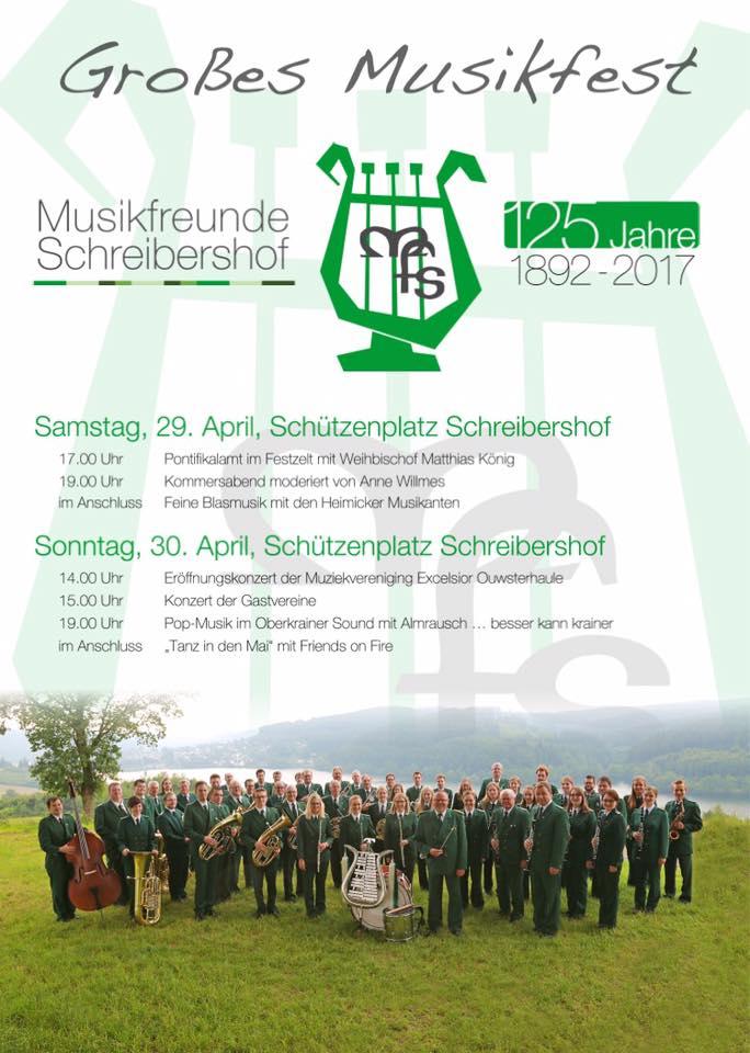 Plakat 125 Jahre Musifreunde Schreibershof 2017
