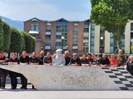 Moto Guzzi Club Olpe-Biggesee in Italien
